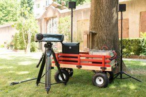 Wanderkino, eine medienpädagogische Veranstaltung in der Filmbildung mit medien.rlp